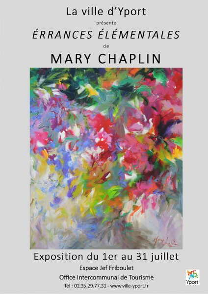 Poster Mary Chaplin exhibition in Yport Normandy